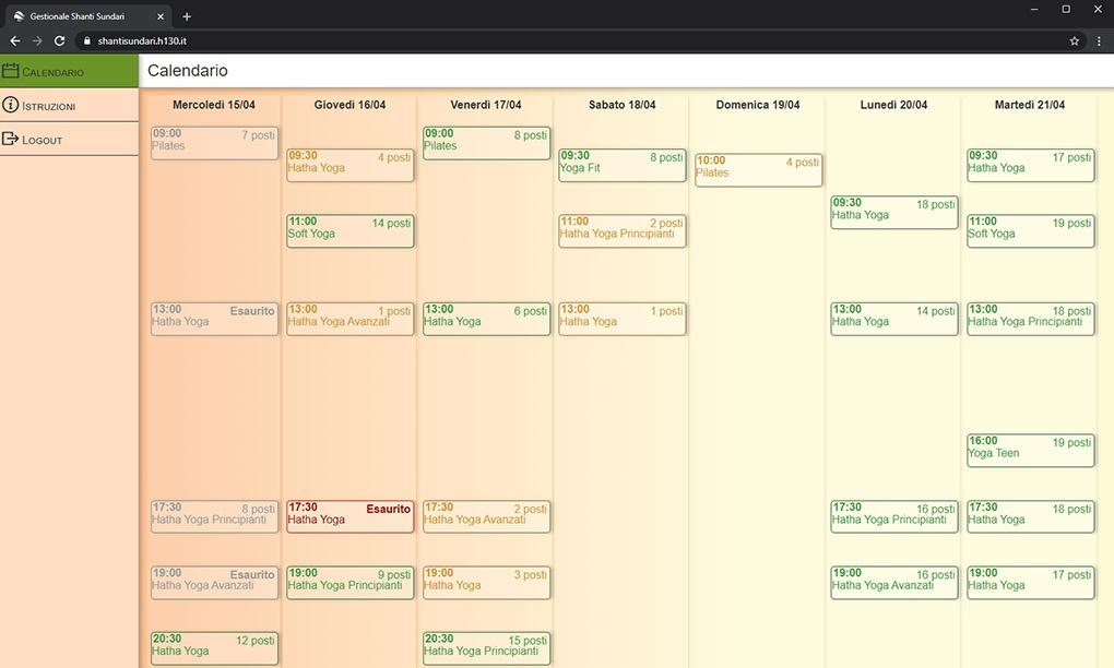 Calendario interattivo